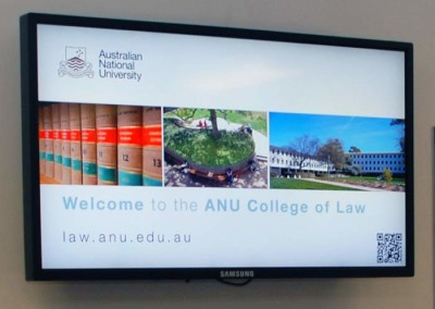ANU College of Law digital signage