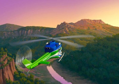 Snowy Hydro SouthCare rescue helicopter educational game